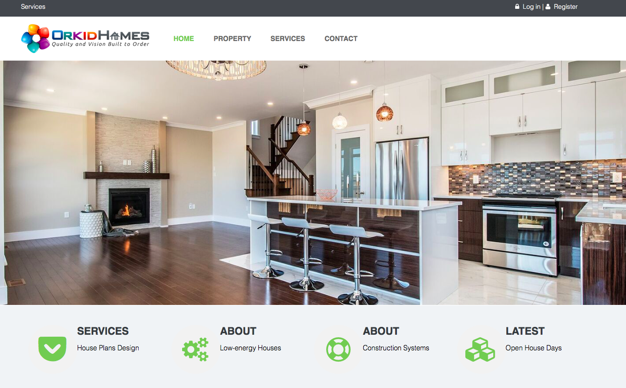 Responsive client website: orkidhomes.ca